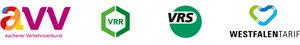 Gesammelte Logos der vier Tarifgebiete in NRW.