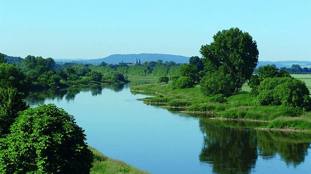 Auf den Klippen der Weser
