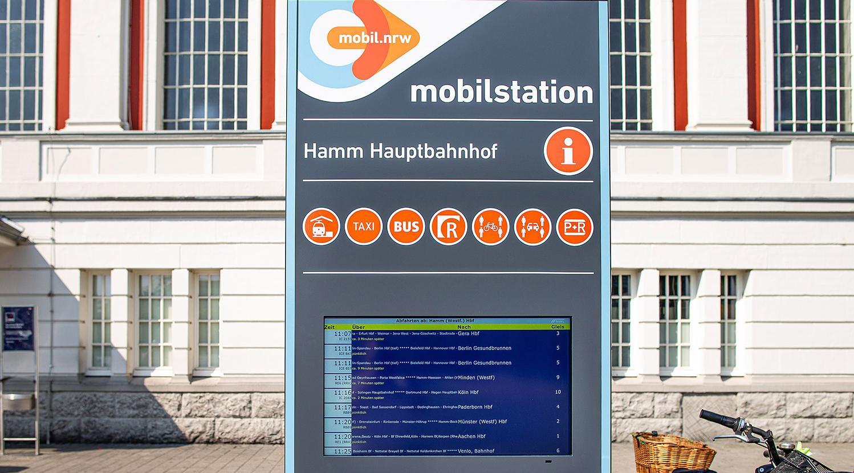 Foto einer Mobilstation in Hamm.